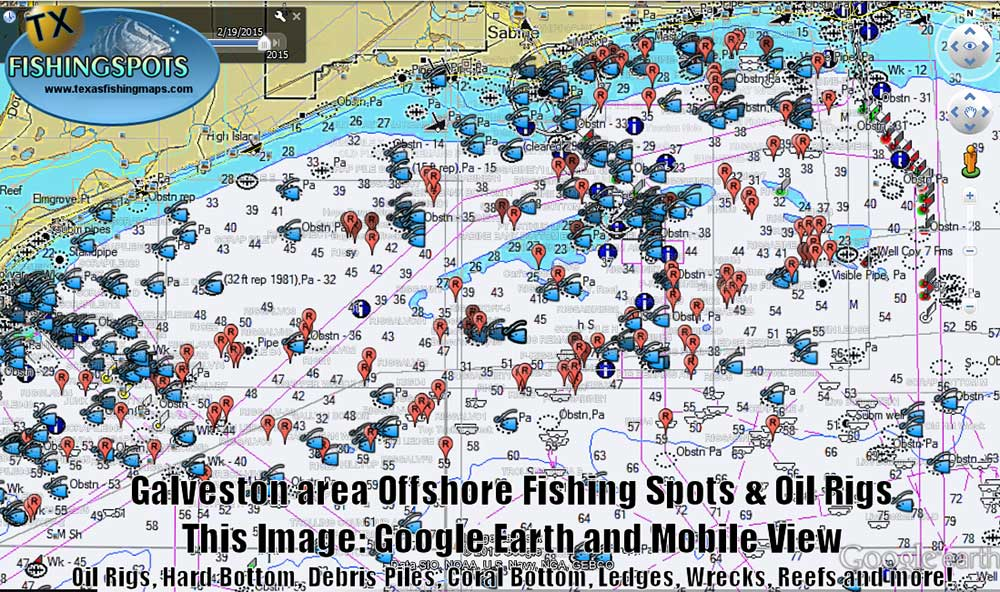 galveston fishing maps