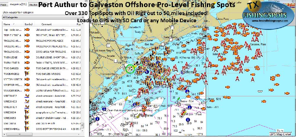 Galveston Fishing Spots and Oil Rig Fishing Spots