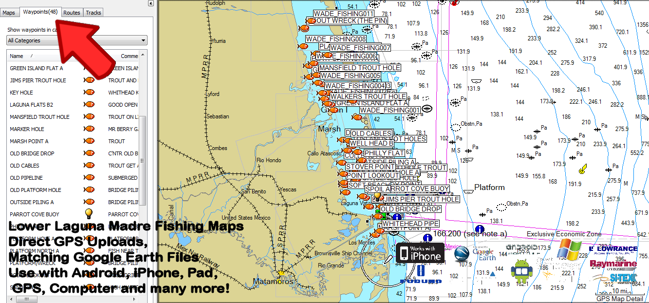 Image Result For Lower Laguna Madre Fishing Map