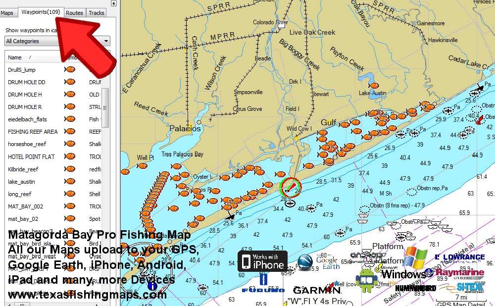 Matagorda Bay Fishing Maps - Texas Fishing Maps and