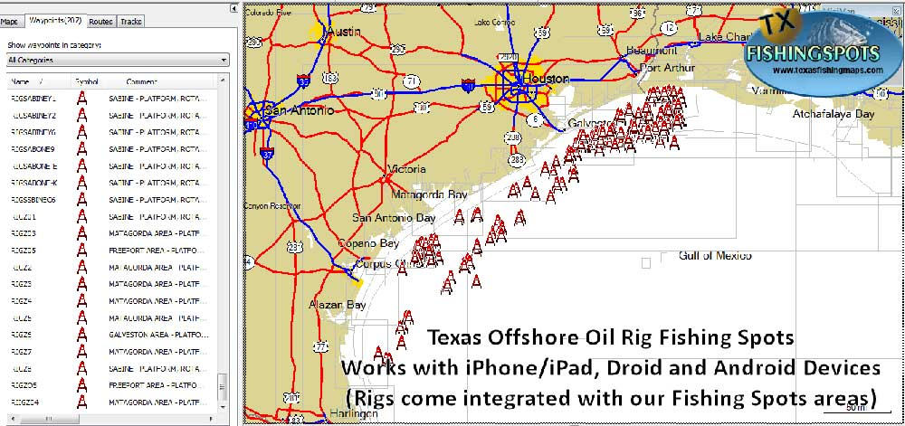 Texas oil rig fishing spots
