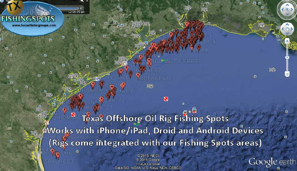TX oil rig fishing spots