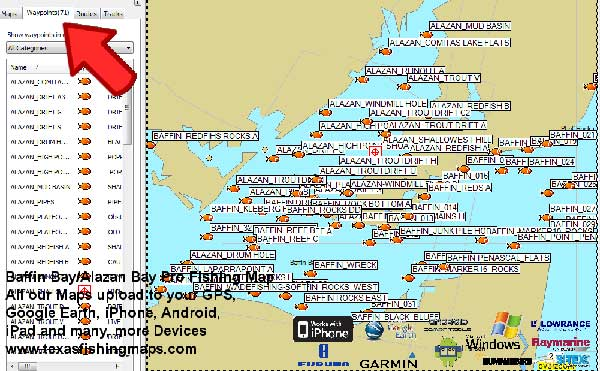 Baffin Bay Texas Fishing Map