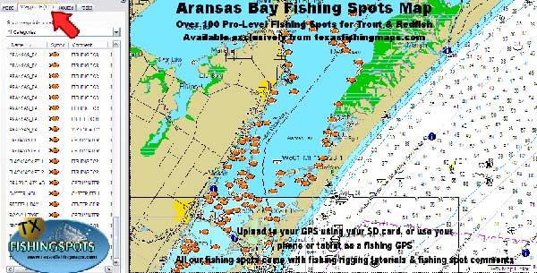 Aransas Bay Fishing Map