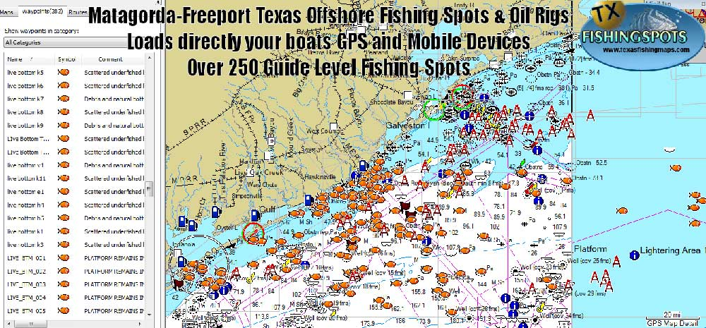 texas fishing maps