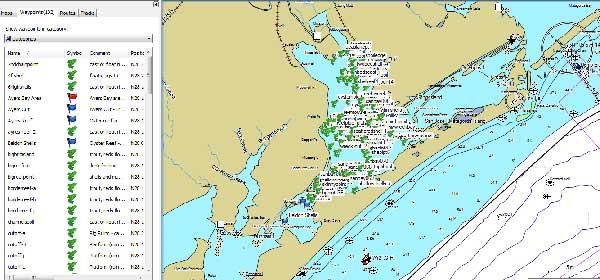 San Antonio Bay Texas Fishing Map