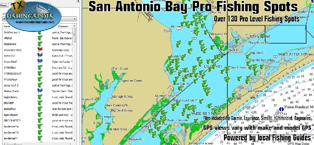 San Antonio Fishing Map for GPS