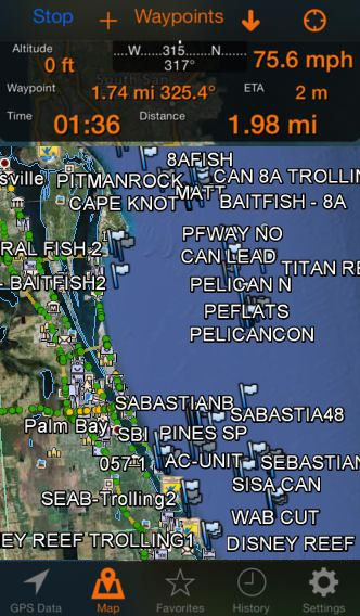 iPhone Fishing Maps for Texas Fishing