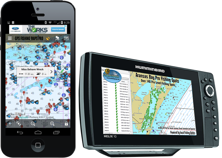 Texas Fishig Maps for Mobile and GPS