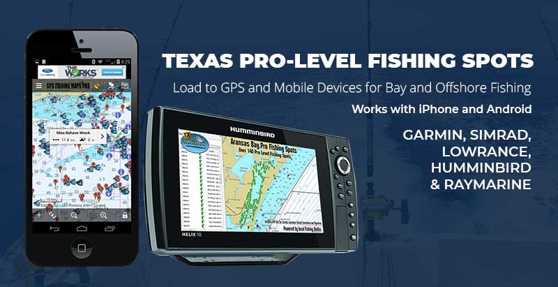 Texas Fishing Maps for Mobile and GPS