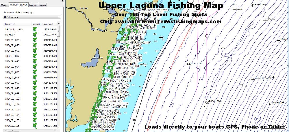 Upper Laguna GPS Fishing Spots
