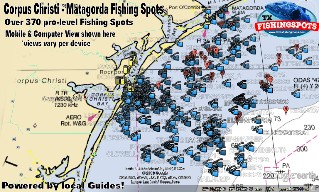 Matagorda Texas offshore Fishing Spots