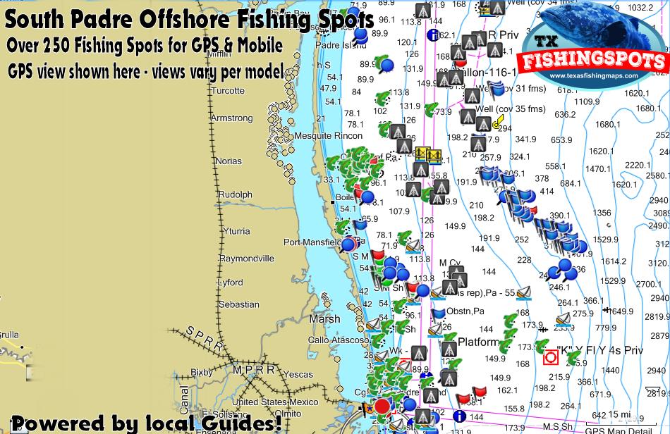South padre island texas fishing spots texas gps fishing for South texas fishing